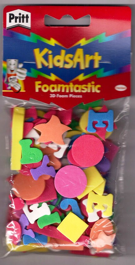 100 Pack 3D Shape Foam Stickers for Art and Craft